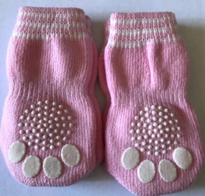 Indoor Dog Socks - Pink Paws