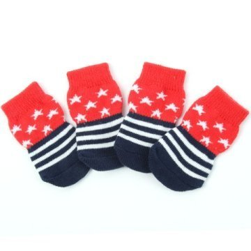 Indoor dog socks - Red Stars