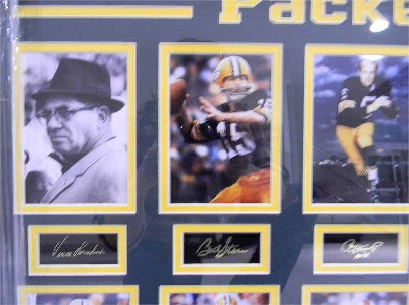 10 Packers Legends - Framed Photos with Autographs