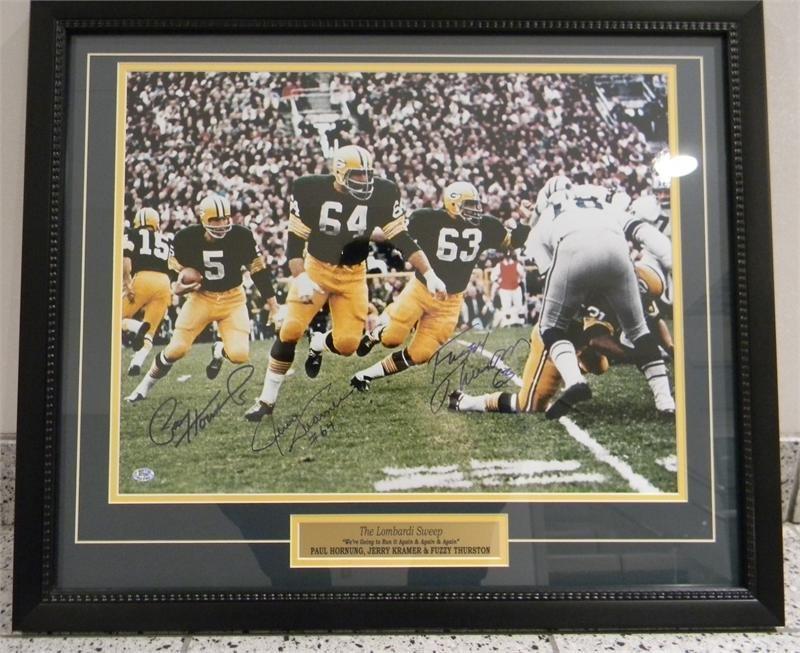 "Autographed ""Lombardi Sweep"" photo 00021"
