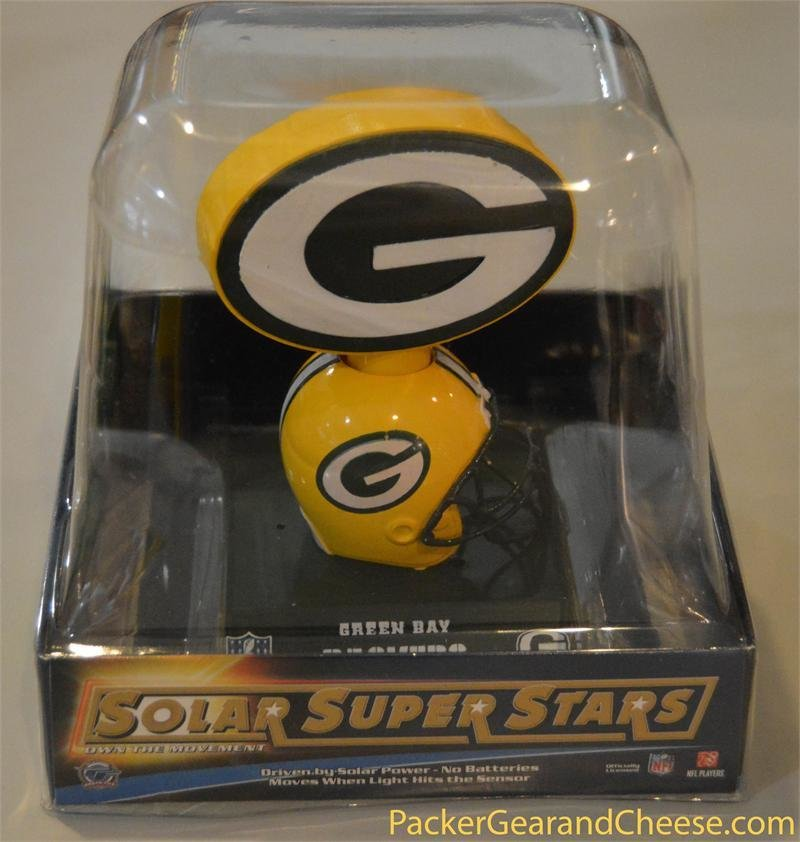 Solar-Powered Green Bay Packers Logo Bobble 00029