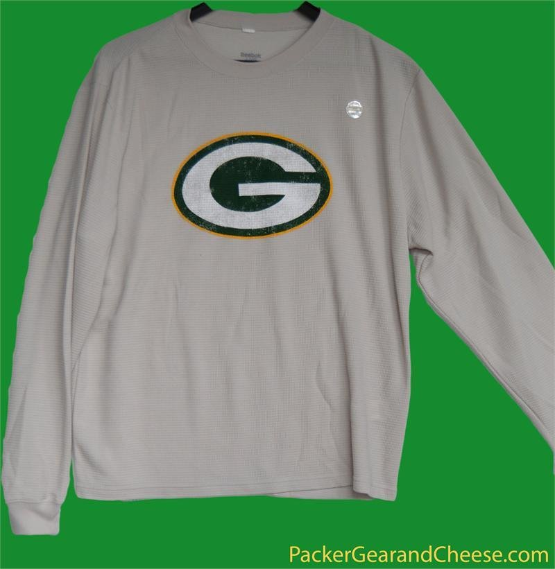 Green Bay Packers Beige Long Sleeve Thermal Shirt 00032