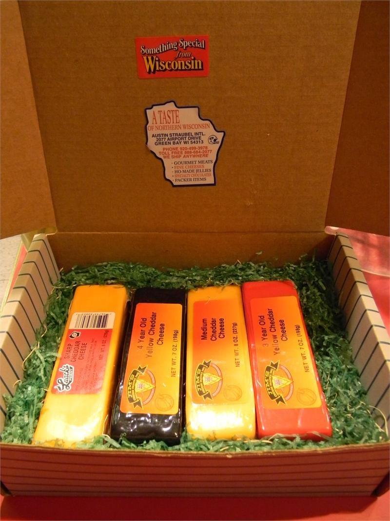 Wisconsin Cheese 4 Brick Gift Box 00037