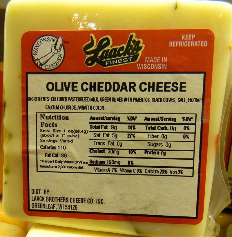 Laack's Finest Olive Cheddar Cheese 00040