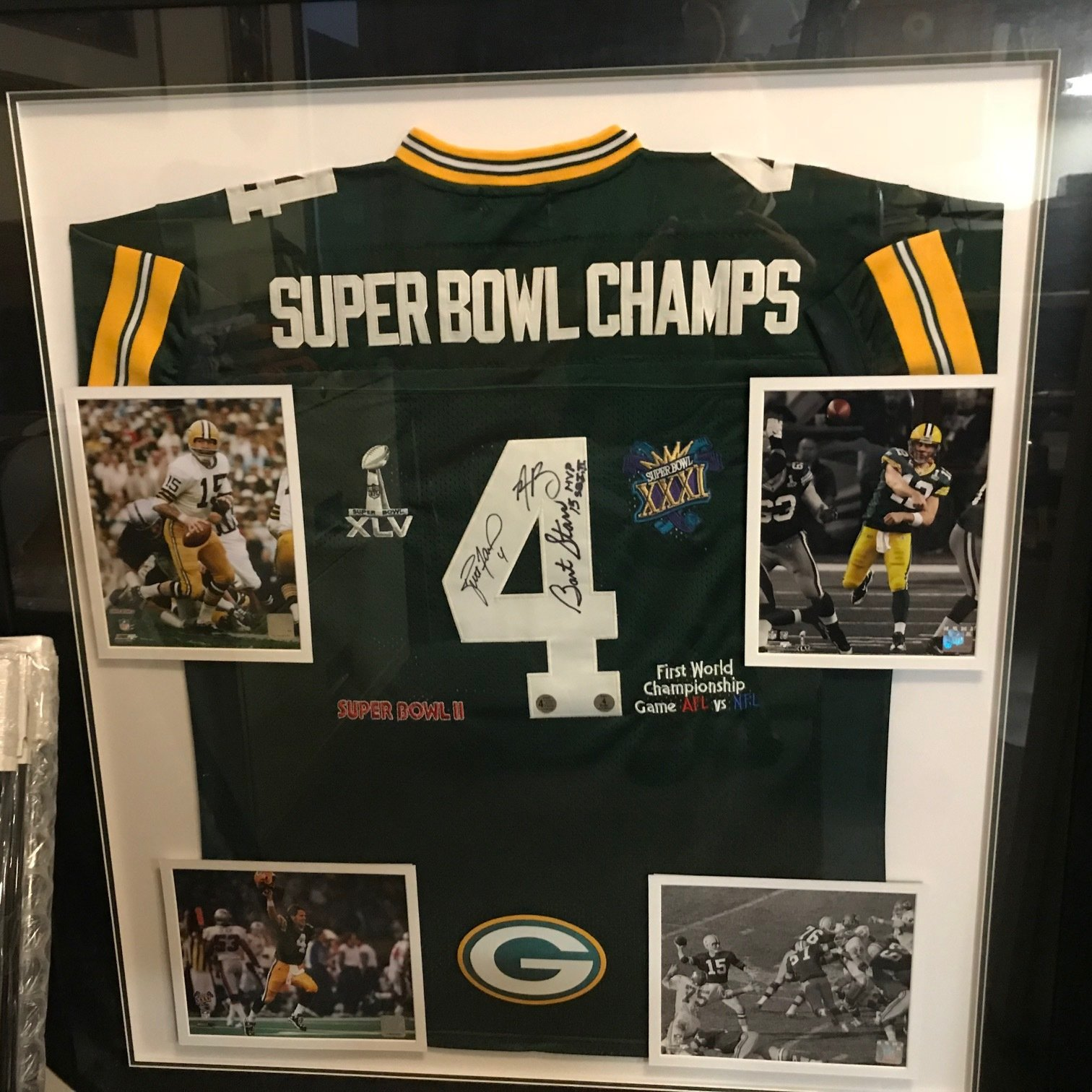 Autographed Packers Super Bowl Champs Jersey 00052