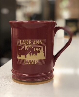 Lake Ann Moose Mug- Red