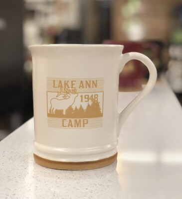 Lake Ann Moose Mug- White