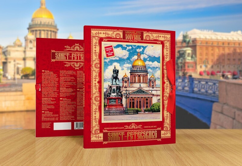 Шоколадный набор «Санкт-Петербург» красный