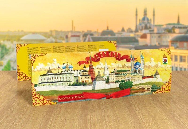 Шоколадный набор «Панорама Казани»
