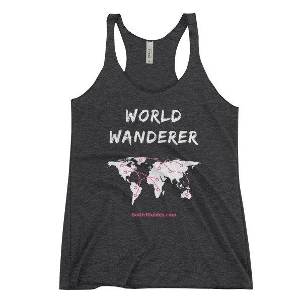 World Wanderer - White Lettering-Tank Top
