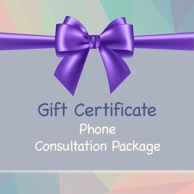 Gift Certificate - Phone Package - 1 hour