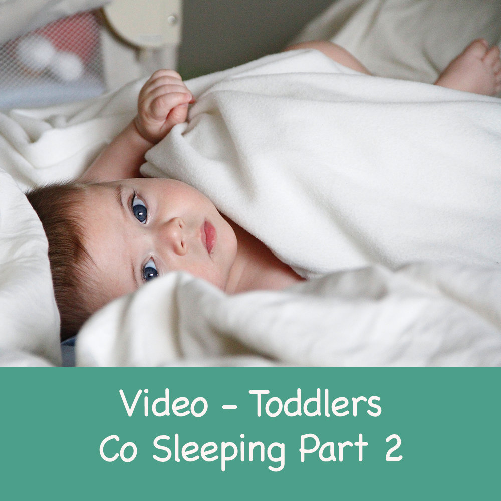 Transitioning your Baby or toddler from co sleeping to their own cot - Part 2