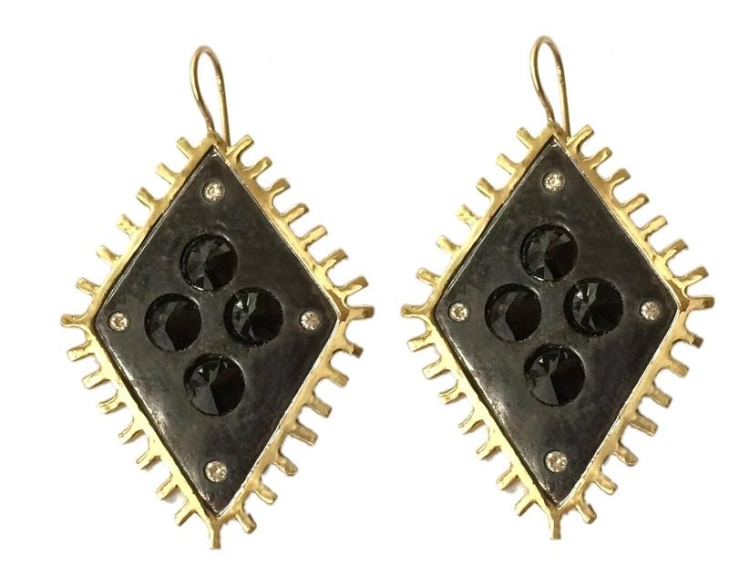 Rhombus Fringe Earrings