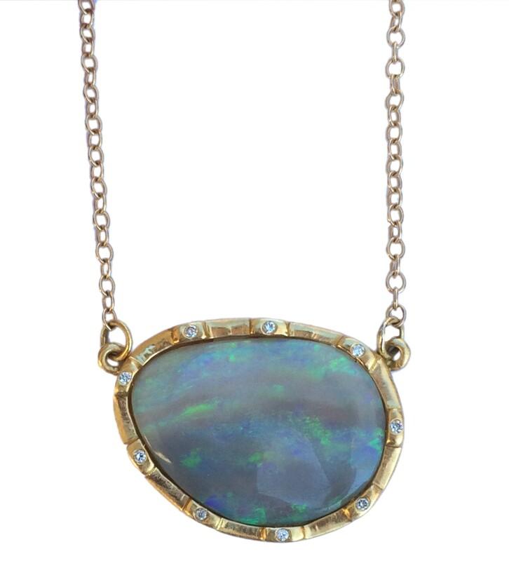 Cubist Opal Necklace