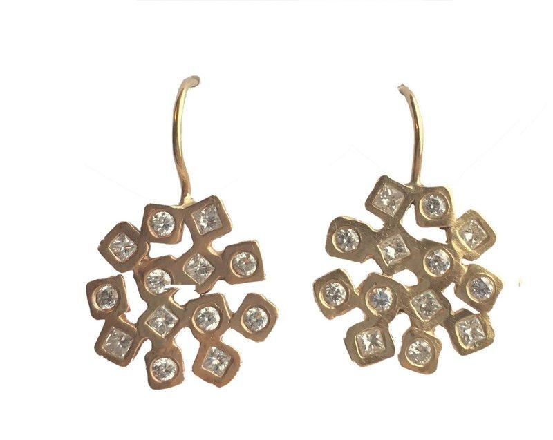 Diamond Cubist Earrings