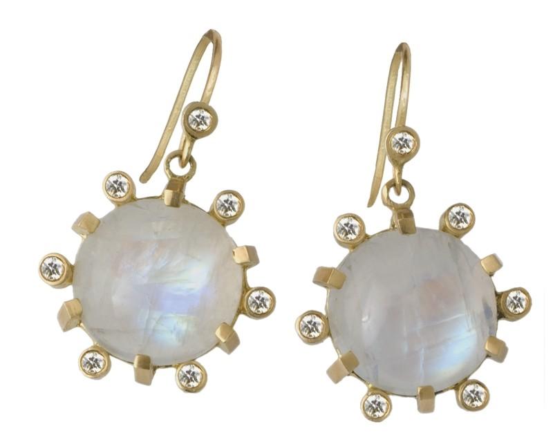 Aura Diamond Moonstones