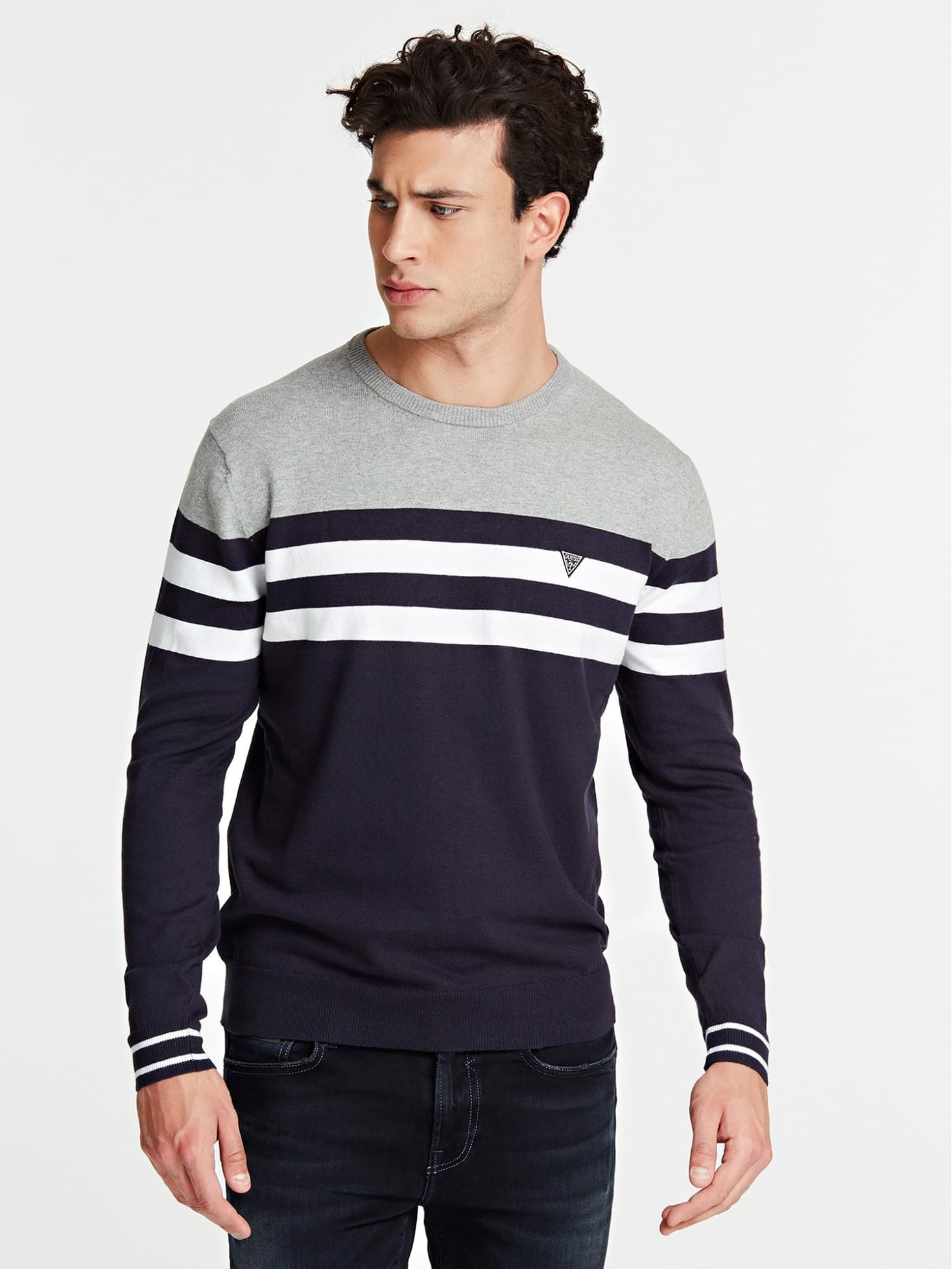Guess Sweater Black/White/Melange YTRVZ6M6QQ1QW