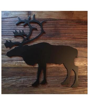 Udskåret dyr i stål - Rensdyr