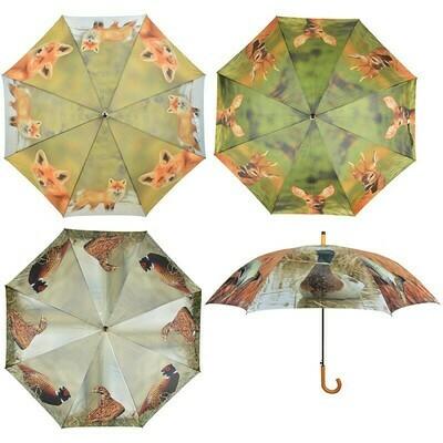 Paraply med print af vildt