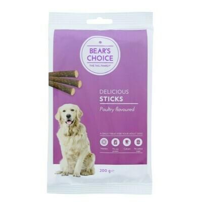 Bear's choice sticks fjerkræ 200 gr.