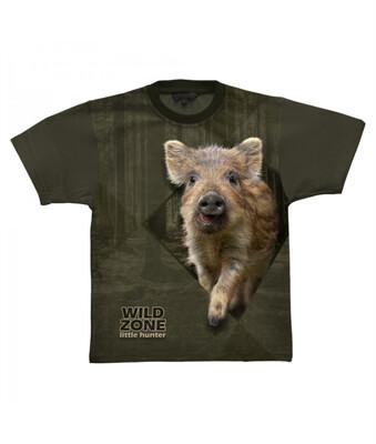 Little Hunter T-shirt med Vildsvin