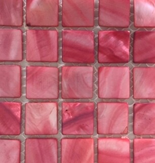 Pink shell tiles