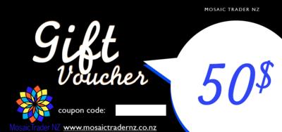 $50 Giftvoucher Mosaic Trader NZ