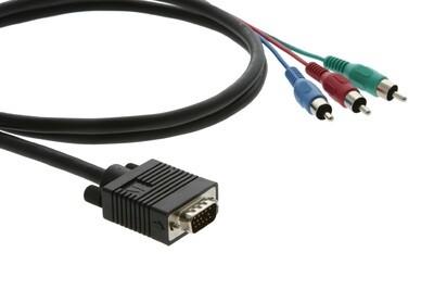Кабель VGA на 3 RCA переходной для компонентных сигналов