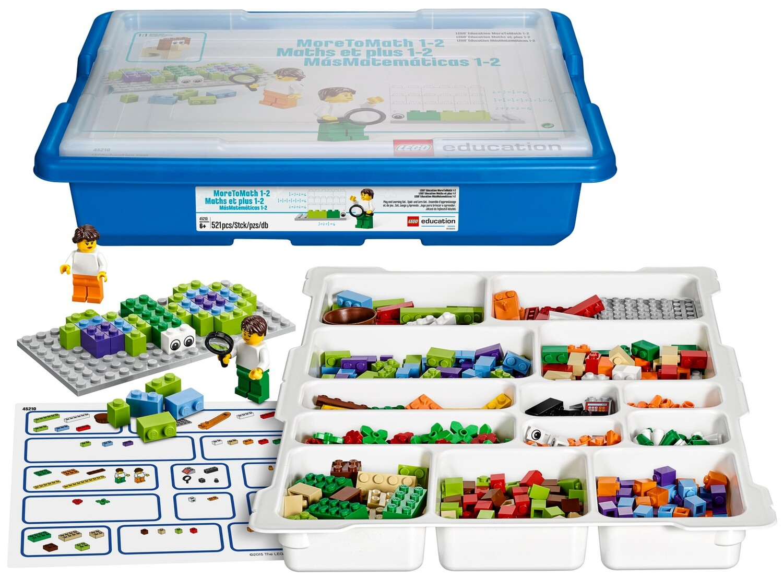 """LEGO 45210 Базовый набор MoreToMath """"Увлекательная математика. 1-2 класс"""" и учебные материалы"""