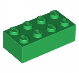 LEGO 4106356 Кирпич 2х4 (зеленый)
