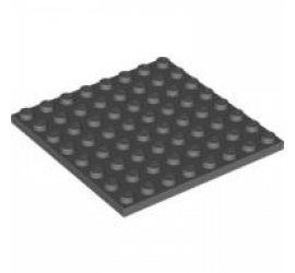 LEGO 4210802 Плитка 8X8 (темно-серая)