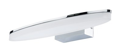 Ola Wall Lamp 6W LED Oval 3000K IP44, 450lm, Polished Chrome/Frosted Acrylic, 3yrs Warranty