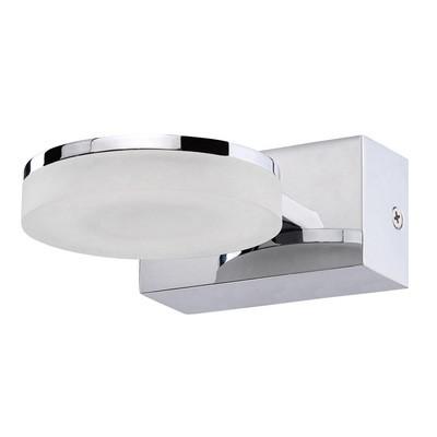 Nimbus Wall Lamp 1 Light 5W LED 3000K IP44, 450lm, Polished Chrome/Frosted Acrylic