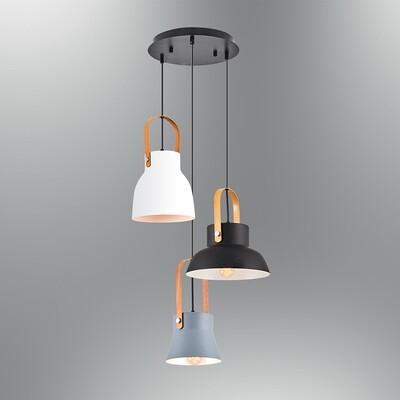 fiatollo 3 x E27 round base pendant light