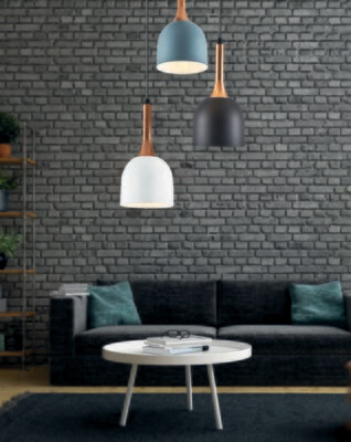 betty 3 x E14 round base pendant luminaire