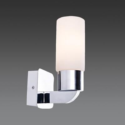 linda E14 wall light chrome finish with opal glass