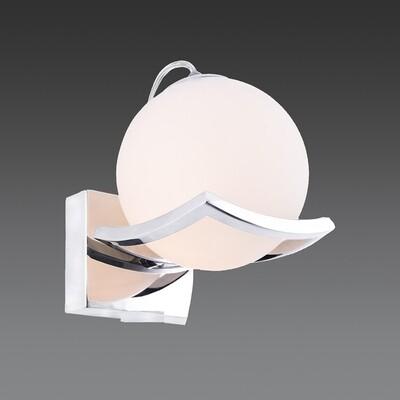 linda pearl E14 wall light chrome finish with opal glass