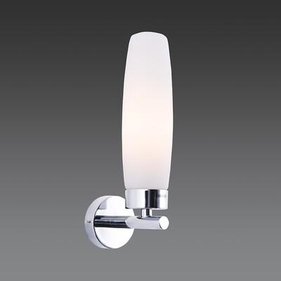 linda guapa E14 wall light chrome finish with opal glass