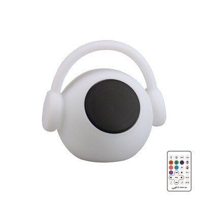 Wazowsky IP44 Portable 3W Speaker, 120lm, 3W LED RGBW Lamp Bluetooth Connection/Remote Control