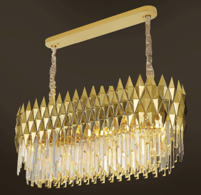LEANNA 105x38 16 LIGHT CHANDELIER GOLD COLOR 16xE14