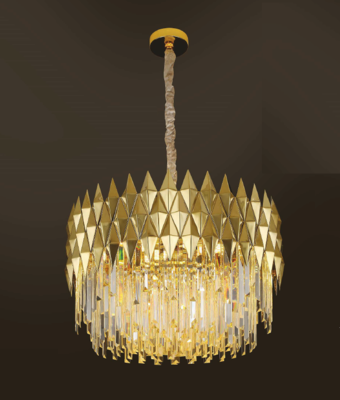 LEANNA Ø50 16 LIGHT CHANDELIER GOLD COLOR 16xE14