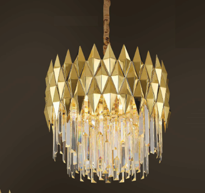 LEANNA Ø50 10 LIGHT CHANDELIER GOLD COLOR 10xE14
