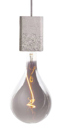 SET OF AT544 lamp-holder with Led artistic filament bulb DF160