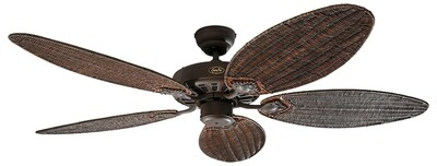 Classic Royal 132 BA Rattan ceiling fan by CASAFAN Ø132cm with Pull Chain