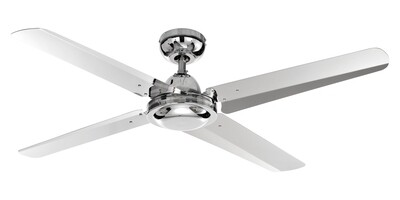 VENTILATORE SOFFITTO chrome ceiling fan by ROSSINI Ø122 Wall control included