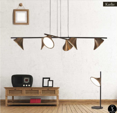 Karlie LED pendant 60W and Table Lamp 10W combination