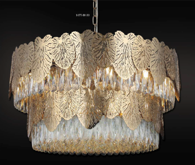 POSITANO Ø80 30 LIGHT CHANDELIER GOLD COLOR 30xE14