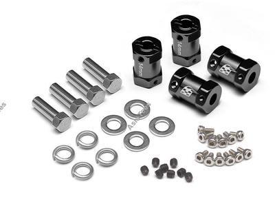 Boom Racing KRAIT™ Aluminum 12mm Wheel Hex Widener (4) (Offset: 14mm) - Black