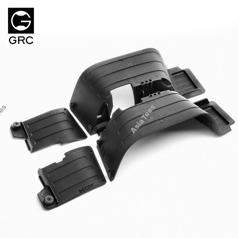 GRC Plastic Front & Rear Inner Fender Set for Axial #90046/7 for Axial SCX10 II