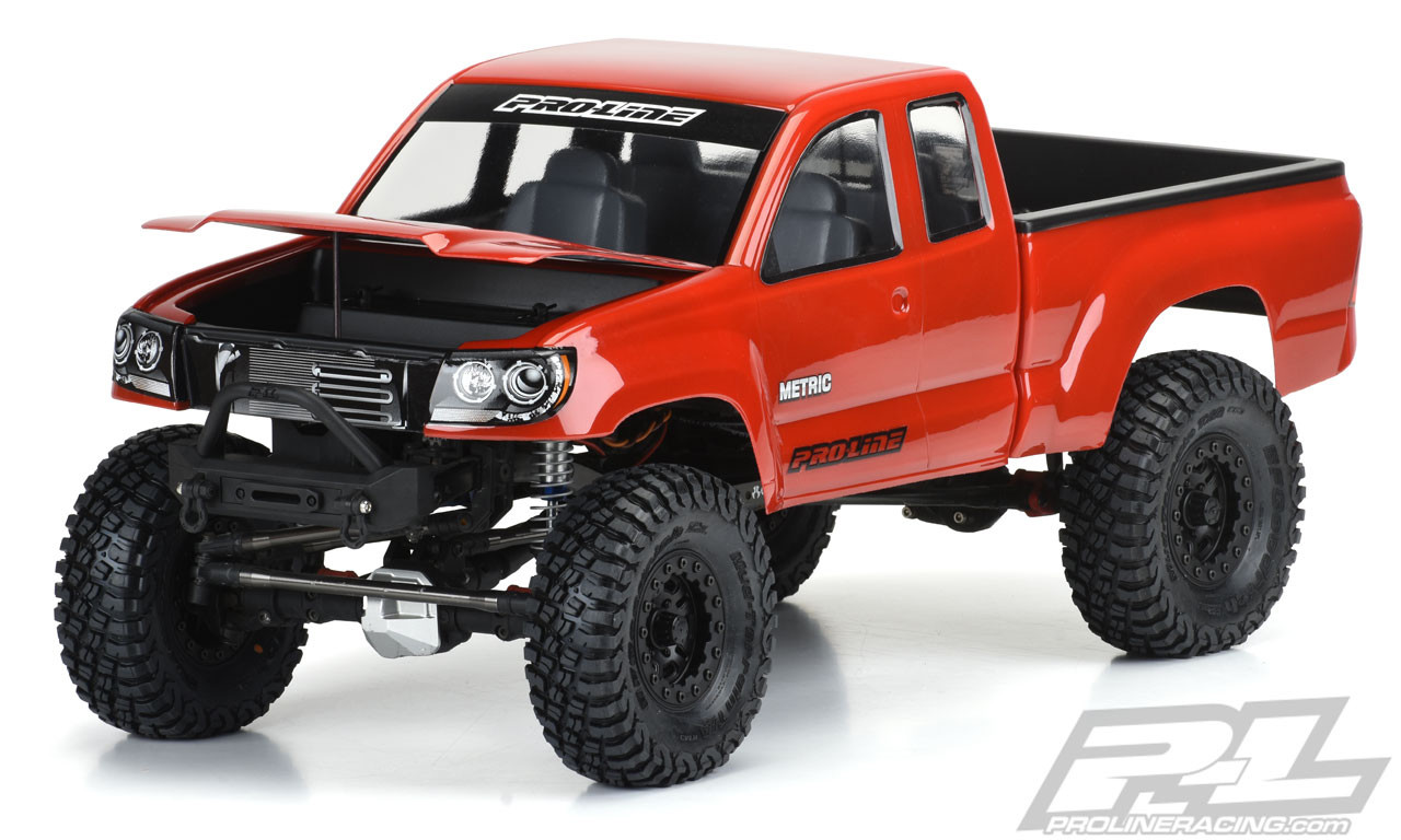 """Proline Builders Series: Metric Clear Body for 12.3"""" (313mm) Wheelbase Scale Crawlers"""